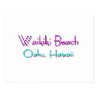 Carte Postale Plage de Waikiki