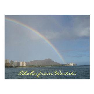 Carte Postale Plage de Waikiki, Hawaï