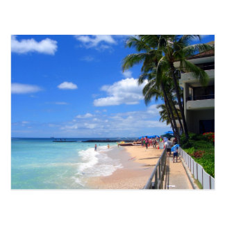 Carte Postale Plage de Waikiki, Oahu, Hawaï