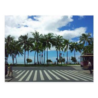 Carte Postale Plage Hawaï de Waikiki