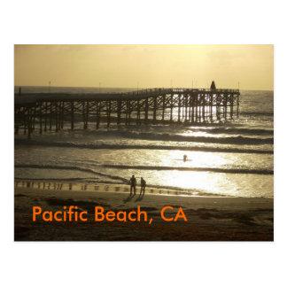 Carte Postale Plage Pacifique, CA