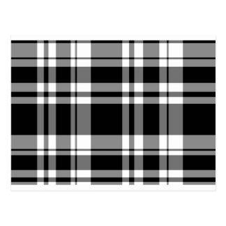 Carte Postale Plaid noir et blanc