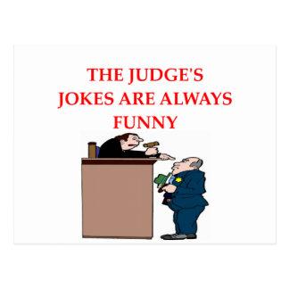 Carte Postale plaisanteries de juge