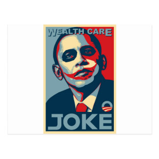 Carte Postale Plan de soin de la richesse d'Obama