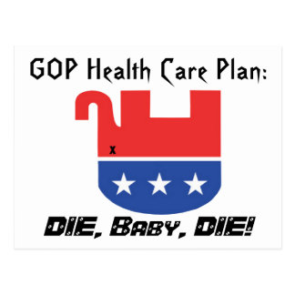 Carte Postale Plan de soins de santé de GOP