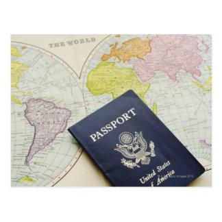 Carte Postale Plan rapproché de passeport se trouvant sur la