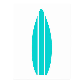 Carte Postale Planche de surf d'Aqua
