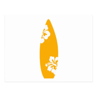 Carte Postale Planche de surf orange de ketmie