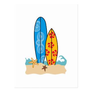 CARTE POSTALE PLANCHES DE SURF