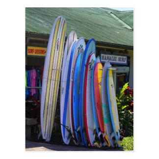 Carte Postale Planches de surf pour le loyer dans Hanalei, Kauai