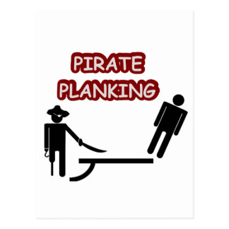 Carte Postale Planking de pirate