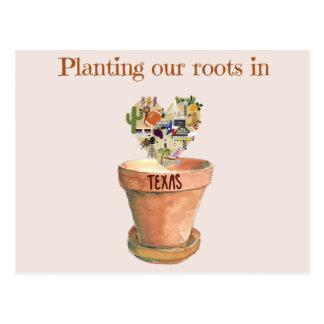 Carte Postale Plantation de nos racines dans le nouveau
