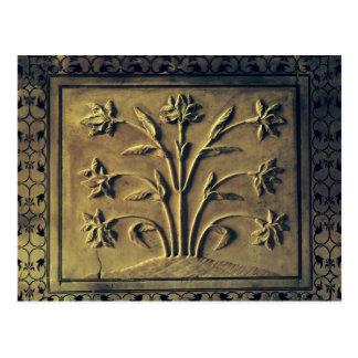 Carte Postale Plante fleurissant, panneau de détail