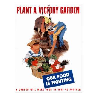 "Carte postale ""plantez de victoire jardin"""