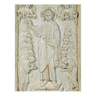 Carte Postale Plaque dépeignant le Christ bénissant les apôtres