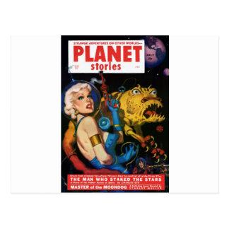 Carte Postale Platine blond et son ami de monstre