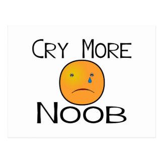 Carte Postale Pleurent plus de Noob