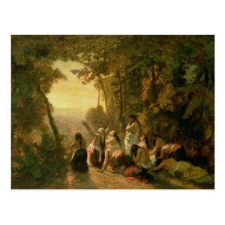 Carte Postale Pleurer de la fille de Jephthah, 1846