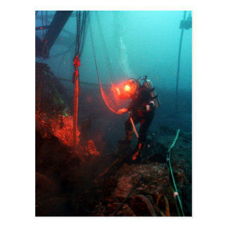 Carte Postale Plongée à l'air sous-marine