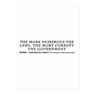 Carte Postale Plus les lois les plus gouvernement corrompu sont