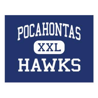 Carte Postale Pocahontas colporte Richmond moyenne la Virginie
