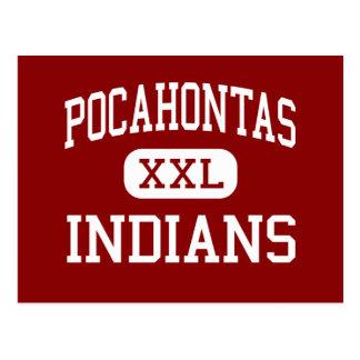 Carte Postale Pocahontas - Indiens - junior - Pocahontas