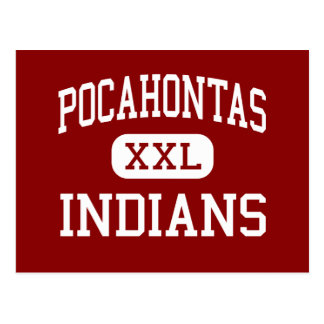 Carte Postale Pocahontas - Indiens - secteur - Pocahontas Iowa