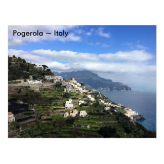 Carte Postale Pogerola, côte d'Amalfi, Italie