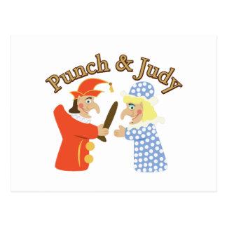 Carte Postale Poinçon et Judy