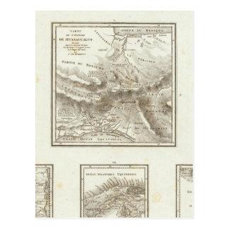 Carte Postale Points de part et communications projetées