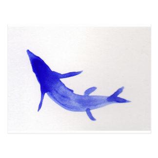 Carte Postale Poissons bleus de Koi