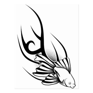 Carte Postale Poissons de tatouage
