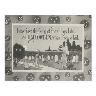 Carte Postale Polisson de fantôme de cimetière de cimetière de