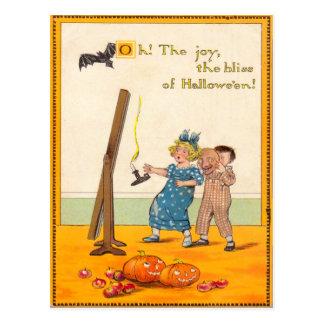 Carte Postale Polisson mignon Jack-o'-lantern d'enfants