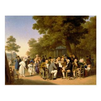 Carte Postale Politiciens dans les jardins de Tuileries, 1832