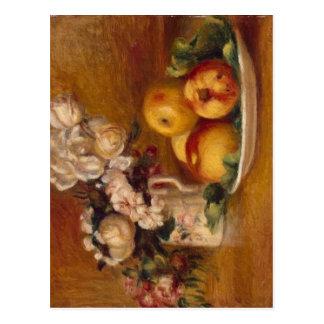 Carte Postale Pommes et fleurs de Renoir
