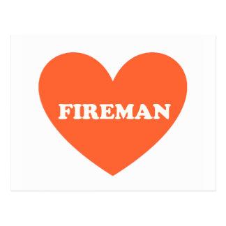 Carte Postale Pompier