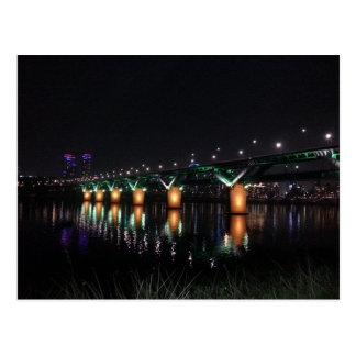 Carte Postale Pont au-dessus du fleuve Han la nuit