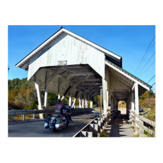 Carte Postale Pont couvert de la course de Miller, Lyndon,