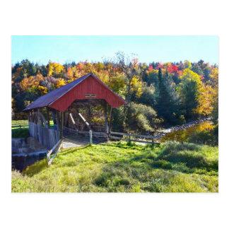 Carte Postale Pont couvert de Randall, Lyndon, Vermont