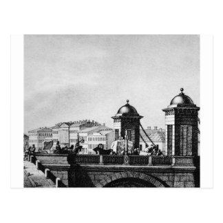 Carte Postale Pont d'Anichkov à St Petersburg