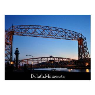 Carte Postale Pont d'ascenseur aérien Duluth Minnesota