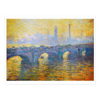 Carte Postale Pont de Waterloo, Weather gris, Claude Monet 1900