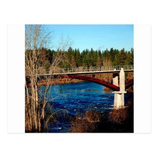 Carte Postale Pont du Canada de rivière de l'eau