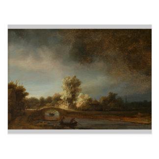 Carte Postale Pont en pierre de Rembrandt