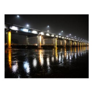 Carte Postale Pont, pluie, Séoul