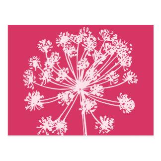Carte Postale Popart rose floral