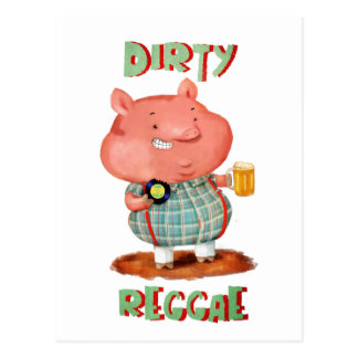 Carte Postale Porc sale de reggae