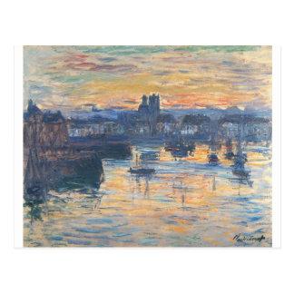 Carte Postale Port de Dieppe, même par Claude Monet