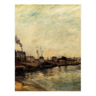 Carte Postale Port de Grenelle par Paul Gauguin